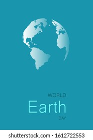 Happy Earth Day Poster or Banner Background. Vector ilustration