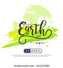 Happy Earth Day Poster or Banner Background.