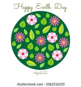 Happy Earth Day. Vector illustration.