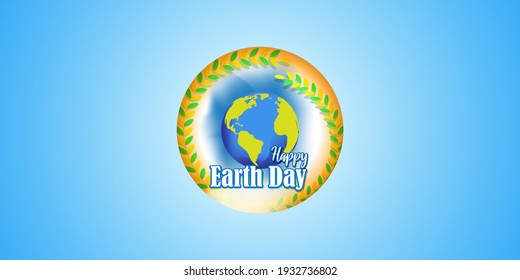 Happy earth day-vector illustration with abstract background