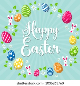 Happy easter background card