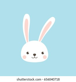 Happy Easter Bunny. Rabbit character.