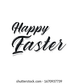 Happy Easter. Calligraphic Typography. Vector illustration.