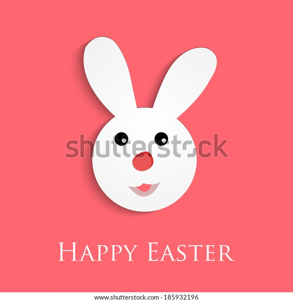 Happy Easter Card background with bunny .