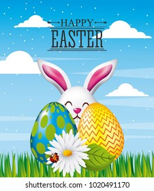 happy easter card greeting invitation decoration
