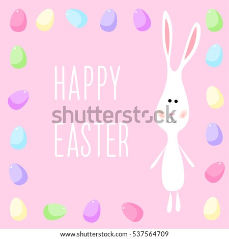 happy easter card template funny cartoon stock vector royalty free
