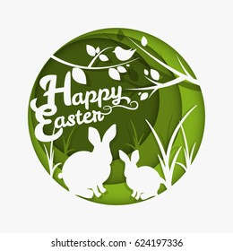 Happy Easter card. Vector greeting card. Vector illustration
