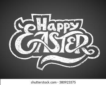 Happy Easter. Chalk Lettering