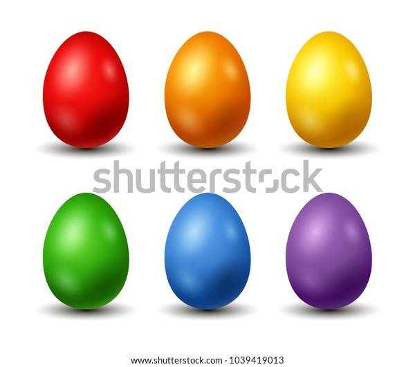 happy Easter day, with colorful colored egg.vector illustration