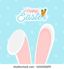 happy easter day greeting card vector illustration