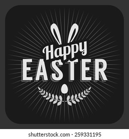 Happy Easter Day vintage holiday badge design. Vector design greetings card or poster