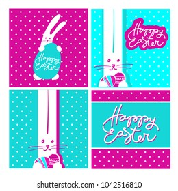 Happy Easter design collection. Vector templates.