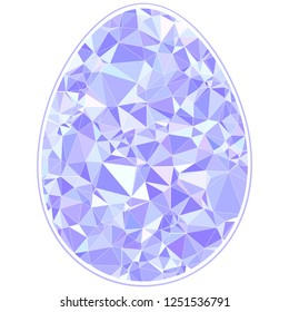 Happy Easter Diamond Egg for greeting card Egg Hunting polygonal triangulated style
