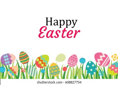happy easter egg background template be stock vector royalty free
