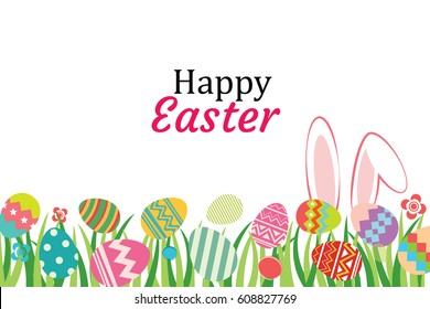 Happy easter egg background template.Can be used for greeting card, ad, wallpaper,flyers, invitation, posters, brochure.