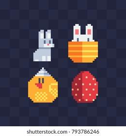 happy-easter-egg-cute-bunny-260nw-793786246 Pixel Art Easter @koolgadgetz.com.info
