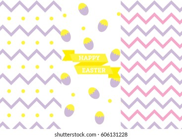 easter eggs zigzag lines illustration seamless stock vector royalty