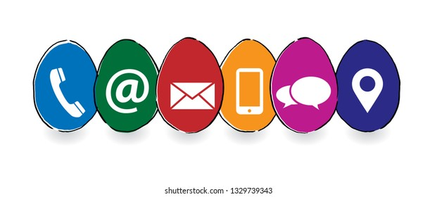Happy easter Egg seamless pattern social media network Contact us call us symbols color network icons icon email signs sign fun funny talk digital technology  connect busines whatsapp Pesach Passover