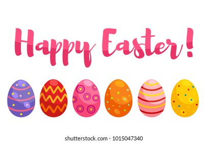 happy easter egg sticker horisontal