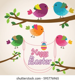 Happy easter element background