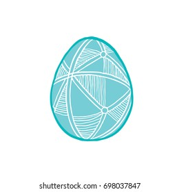 Happy easter - Folk ornament decorated eggs - Vector illustration