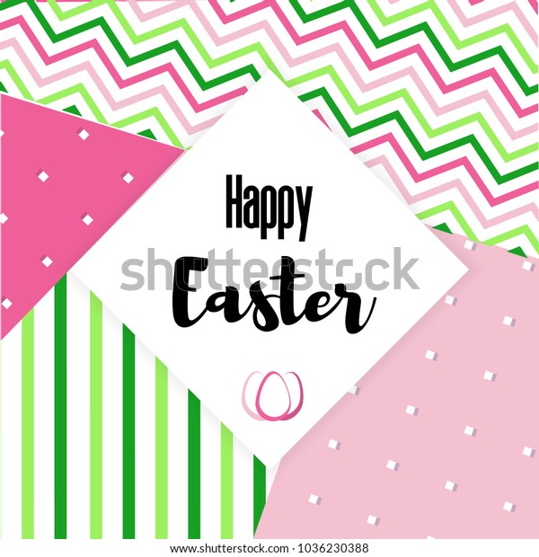 image relating to Happy Easter Banner Printable titled Content Easter Greeting Card Small Imaginative Inventory Vector