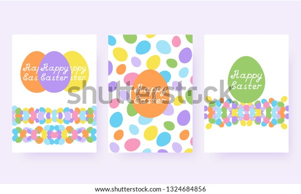 photograph relating to Happy Easter Cards Printable titled Delighted Easter Greeting Playing cards Established Satisfied Inventory Vector (Royalty