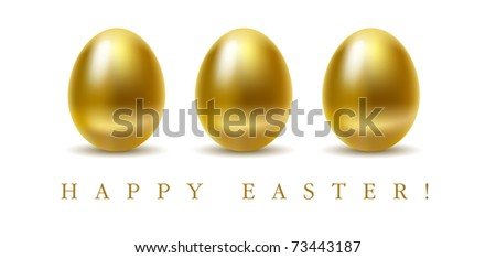 Happy easter greetings card golden eggs stock vector royalty free happy easter greetings card with golden eggs on white background m4hsunfo