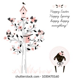 Happy Easter greetings, holidays design