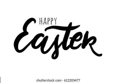Happy Easter. Hand lettering and custom typography for your designs: t-shirts, bags, for posters, invitations, cards, etc. Hand drawn typography.