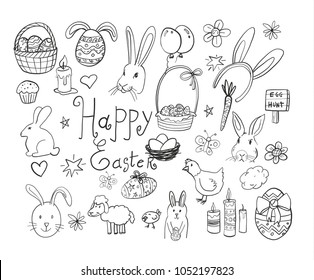 Happy easter image vector