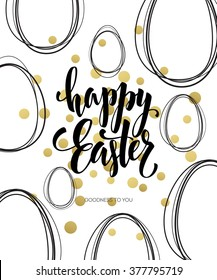 Happy Easter Lettering Egg. Vector illustration EPS10