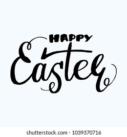 Happy Easter lettering isolated on white background