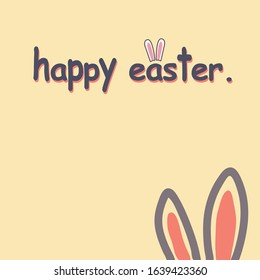 happy easter minimalist card decoration vector - Shutterstock ID 1639423360