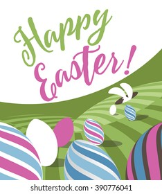 Happy Easter poster greeting card design