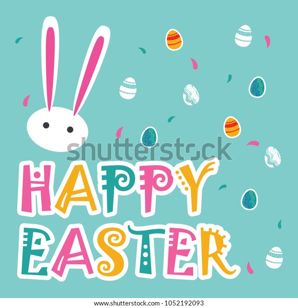 Happy Easter Quotes Stock Vector (Royalty Free) 1052192093