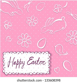 Happy Easter. Vector.
