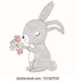 Happy Easter vector design.Animal illustration.