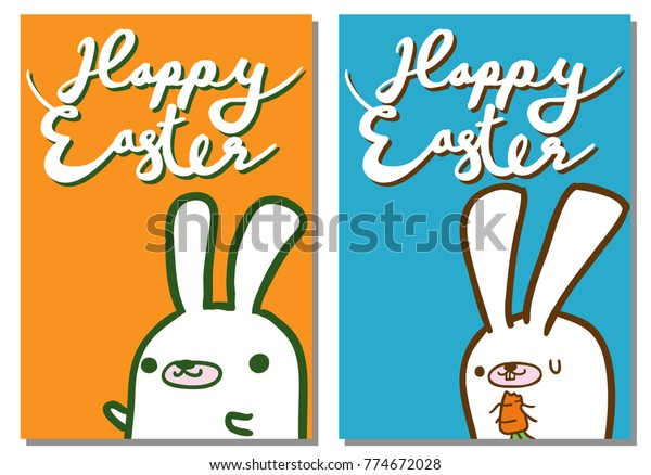 image relating to Happy Easter Sign Printable identified as Content Easter White Bunny Easter Eggs Inventory Vector (Royalty