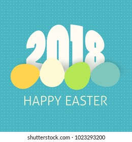 Happy Easter with year 2018