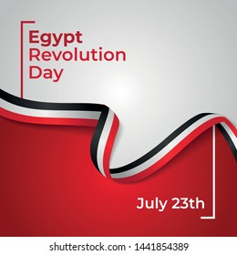 Happy Egypt Revolution Day Vector Design Template Illustration