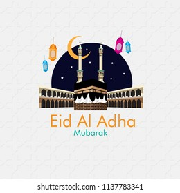 Happy Eid al adha creative design islamic celebration for print, card, poster, banner etc.