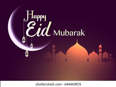 happy eid mubarak greetings background, Elegant element for design template, place for text greeting card for Ramadan kareem