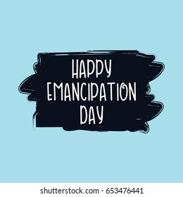 Happy Emancipation Day Logo Vector Template