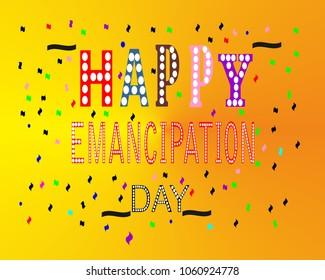 Happy Emancipation Day Vector