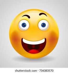 Happy Emoji. Isolated vector illustration