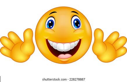 Happy emoticon smiley