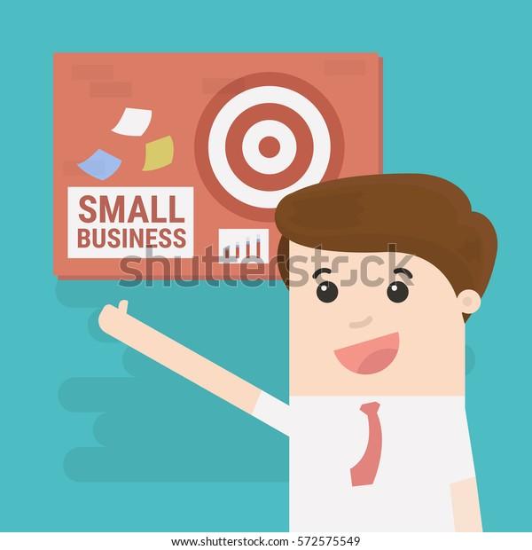 businessman happy small