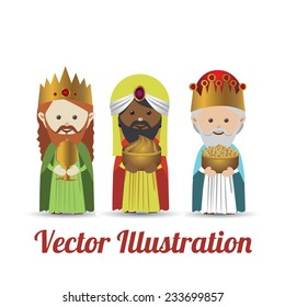 Happy epiphany design over white background, vector illustration.