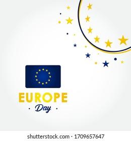 Happy Europe Day Vector Design Illustration